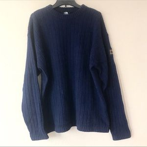 North Face Navy Ribbed Wool Sweater